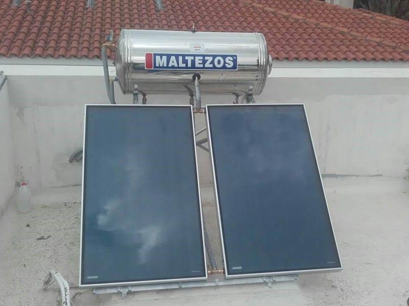 Ηλιακός θερμοσίφωνας Μαλτέζος 200LT INOX για χρήση μονοκατοικίας