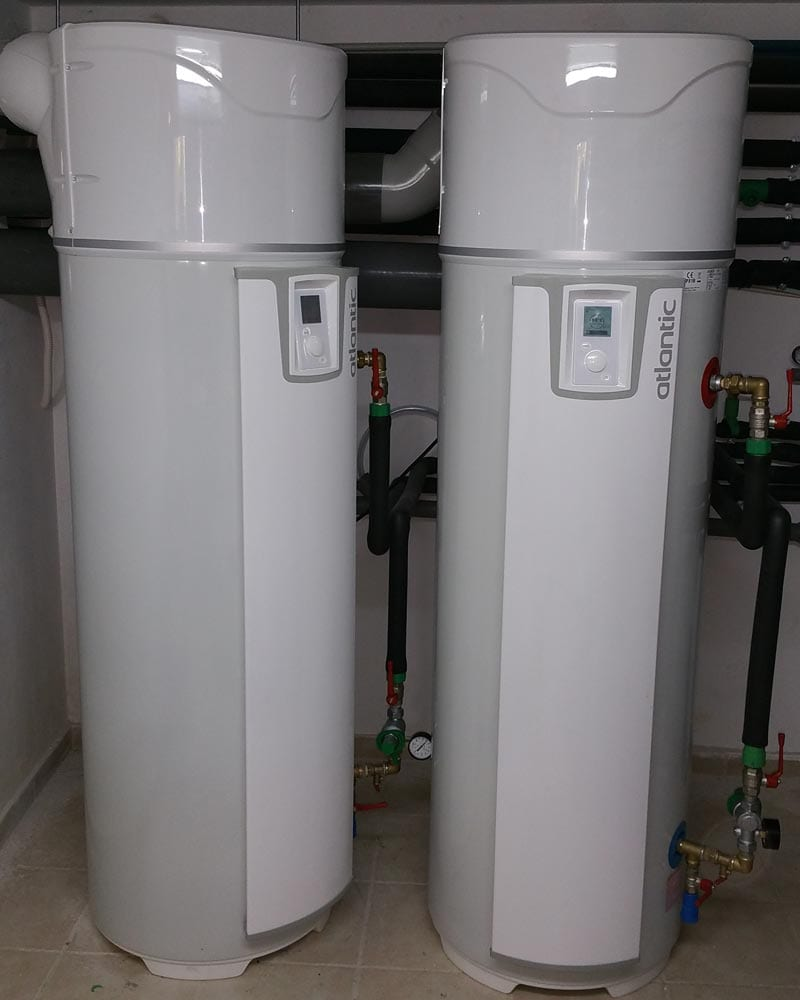 Boiler με αντλία θερμότητας για ΖΝΧ