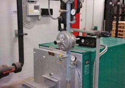 Νέα γραμμή αερίου με αντικατάσταση καυστήρα