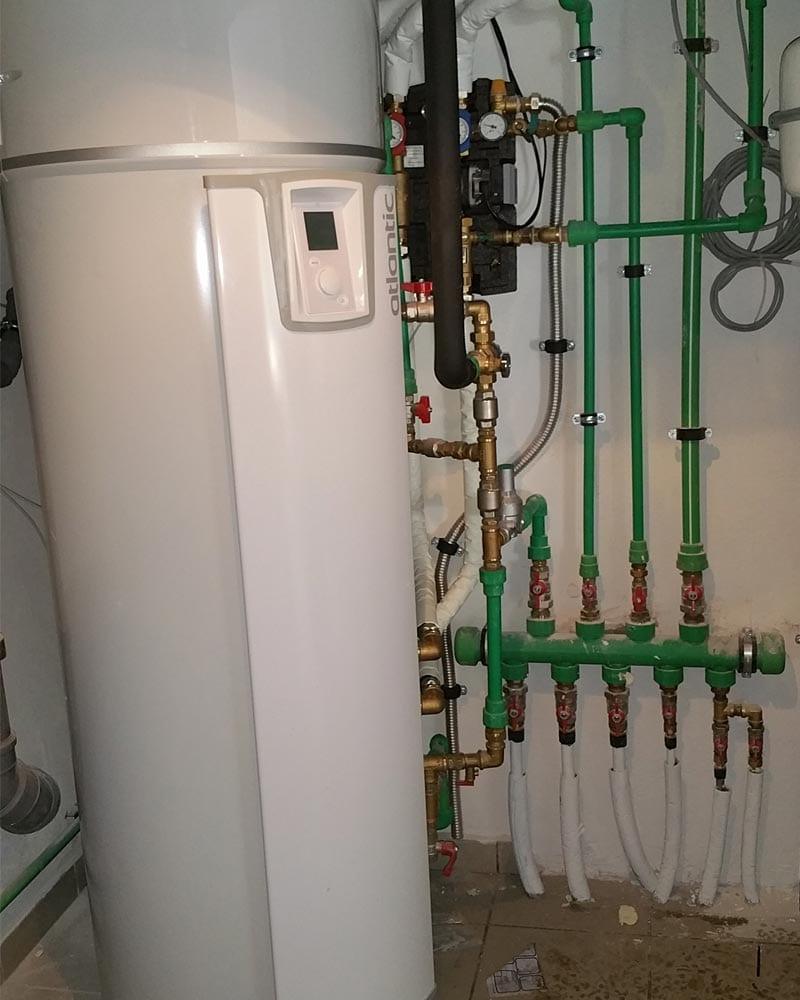 Boiler τριπλής ενέργειας με αντλία θερμότητας για ΖΝΧ