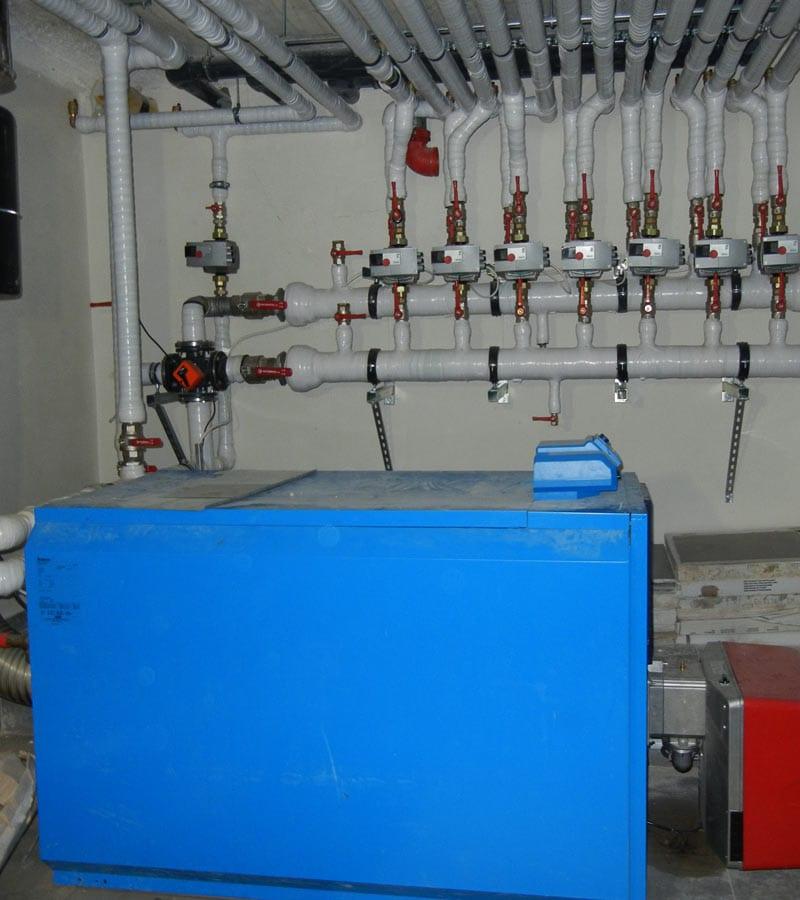 Εφαρμογή κεντρικής θέρμανσης